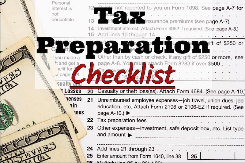 TST Accounting, LLC's 2017 Tax Preparation Checklist